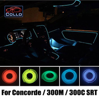 9 Meter EL Wire For Chrysler Concorde / 300M / 300C SRT / Car Interior Romantic Atmosphere Lamp / Car Decoration Cold Light Line