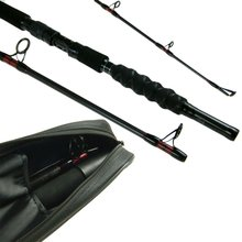 1.8m 2.1m Carbon Fiber Boat Fishing Rod 6/7ft 70-250g Heavy Duty Boat Saltwater Rod Frame Travel Fishing Rod Pole with Case Bag