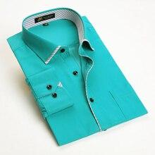 PAULJONES модная Новая мужская рубашка из бамбукового волокна с длинным рукавом, Мужская Повседневная Деловая официальная рубашка
