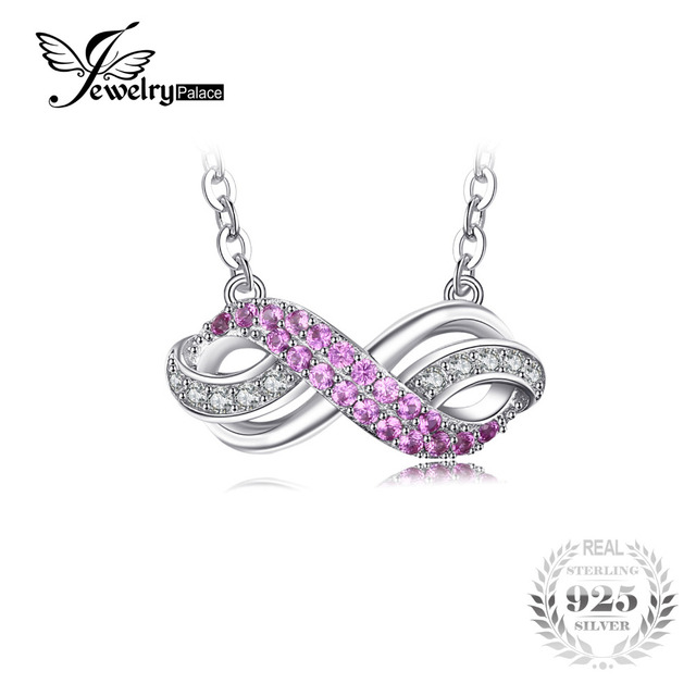 Jewelrypalace forever love infinity created pink sapphire jewelrypalace forever love infinity created pink sapphire anniversary promise pendant necklace 925 sterling silver 45cm chain aloadofball Choice Image