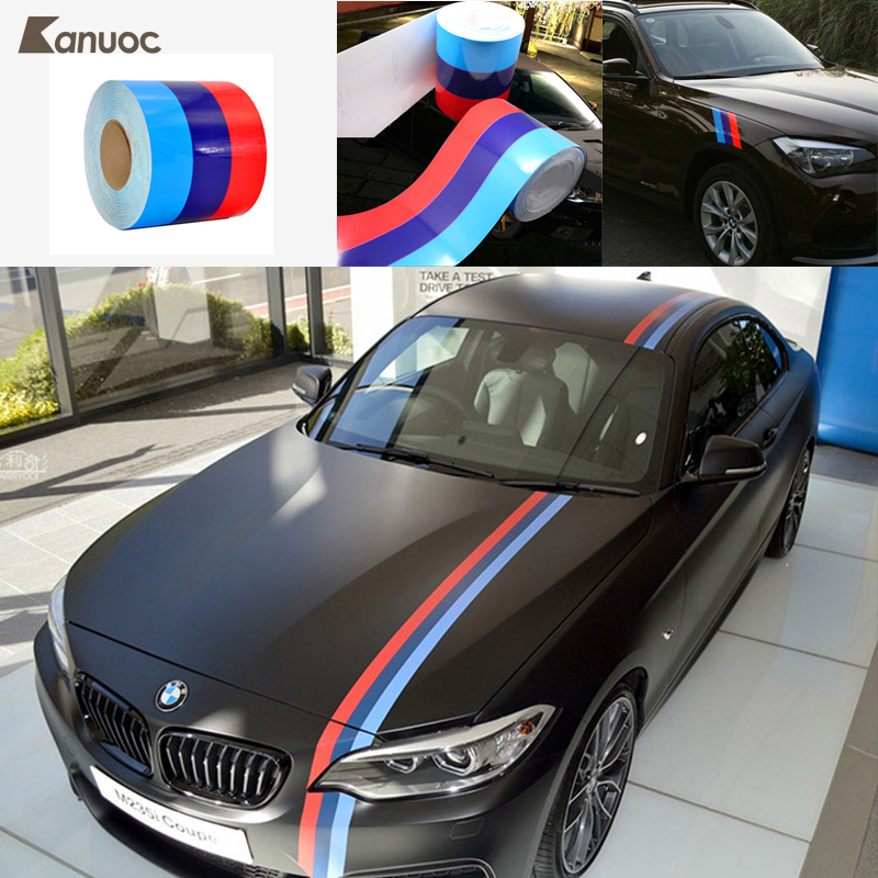 Car Sticker Car-Styling Decoration 3-Color Car Body Hood Decal For BMW M3 M5 E36 E46 E60 E90 Accessories 1 2m 1 5m 2m 3m 4m 5m