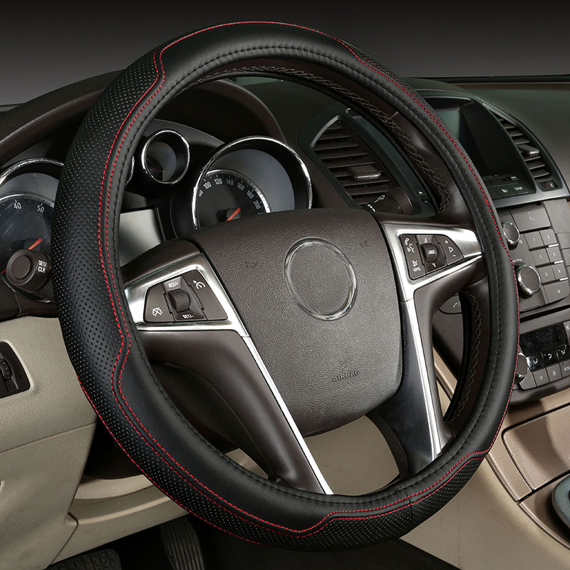 car steering wheel cover genuine leather accessories for cadillac ats ct5 ct6 cts sls xt5 xts