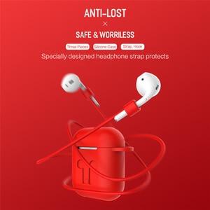 Image 2 - حافظة من السيليكون الناعم لـAirpods, تأتي الحافظة المقاومة للصدمات على ميزة مضاء للماء لهواتف أيفون 7 8 أكسسورات سماعات الرأس