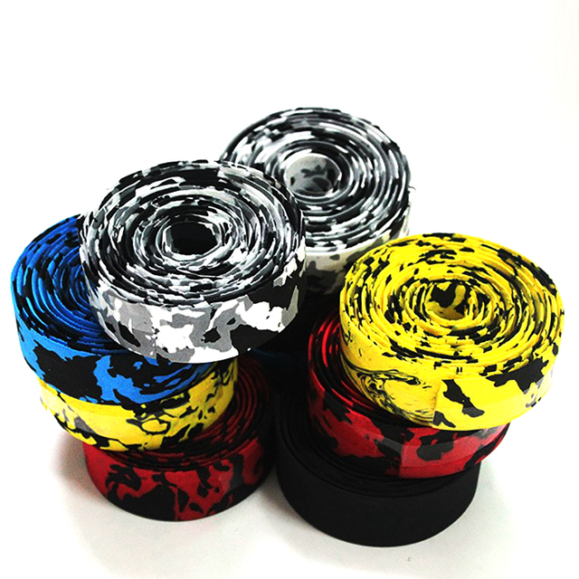 1 pair Road Bike Bicycle Handlebar Tape Camouflagebelt Cycling Handle Belt Cork Wrap with Bar Plugs non slip absorb sweat 1