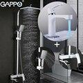 GAPPO Dusche System wand montiert Bad mischbatterie dusche badewanne regen dusche set wasserfall badewanne Becken Armaturen Duschsystem Heimwerkerbedarf -