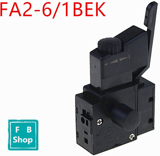 1PCS <font><b>FA2</b></font>-<font><b>6</b></font>/<font><b>1BEK</b></font> Black Lock on Power Tool Electric <font><b>Drill</b></font> Speed Control Trigger Button <font><b>Switch</b></font> Electric tool fittings <font><b>switch</b></font> new image