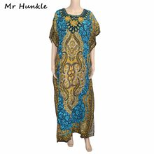 792d54886ff4 Mr Hunkle Vintage African Women Clothing Diamonds Emboridery Neck Summer  Maxi Vestidos Traditional African Print Dashiki Dresses