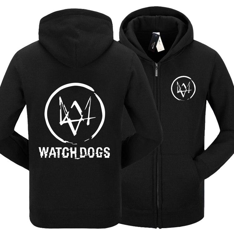 משלוח חינם שעון סרט לבן גארי צבע שחור כלבים ללבוש תחפושת קוספליי אנימה נשים גברים מעיל מעיל רוכסן סוודר קפוצ 'ון