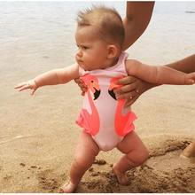 Summer Toddler Kids Baby Girl Swan Bikini Swimwear Children Swimming Suit Bikini Swan Swimwear Wholesale Drop shipping(China)