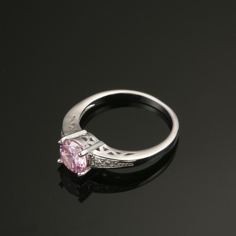 Nette rosafarbene österreichische Kristallringe für Frauen 925 - Modeschmuck - Foto 6