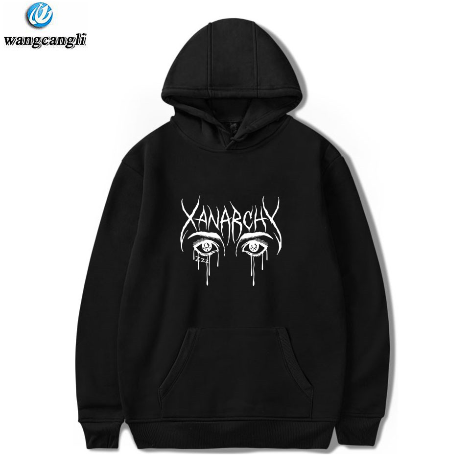 Lil Xan Xanarchy Hoodies And Sweatshirts Autumn Winter Hip Hop Mens Hoodie Long Sleeve Sweatshirt Fashion Harajuku Jacket Coat