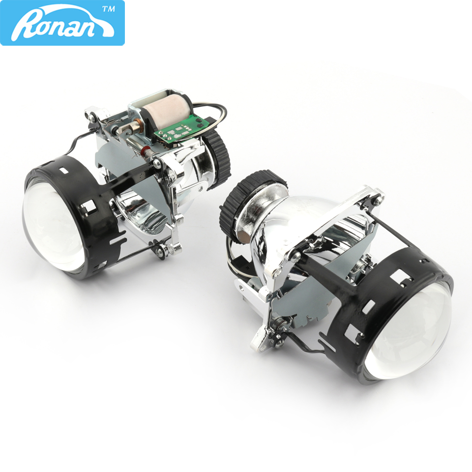 RONAN Bi-xenon HID Projector Lens Koito D2S Replacement for BMW E46 E70 for Audi A3 A4 car headlight DIY retrofit Car styling car light accessories amp d2s d2c d2r hid xenon cable adaptor socket for d2 d4 d4s d4r xenon hid headlight relay wiring harness