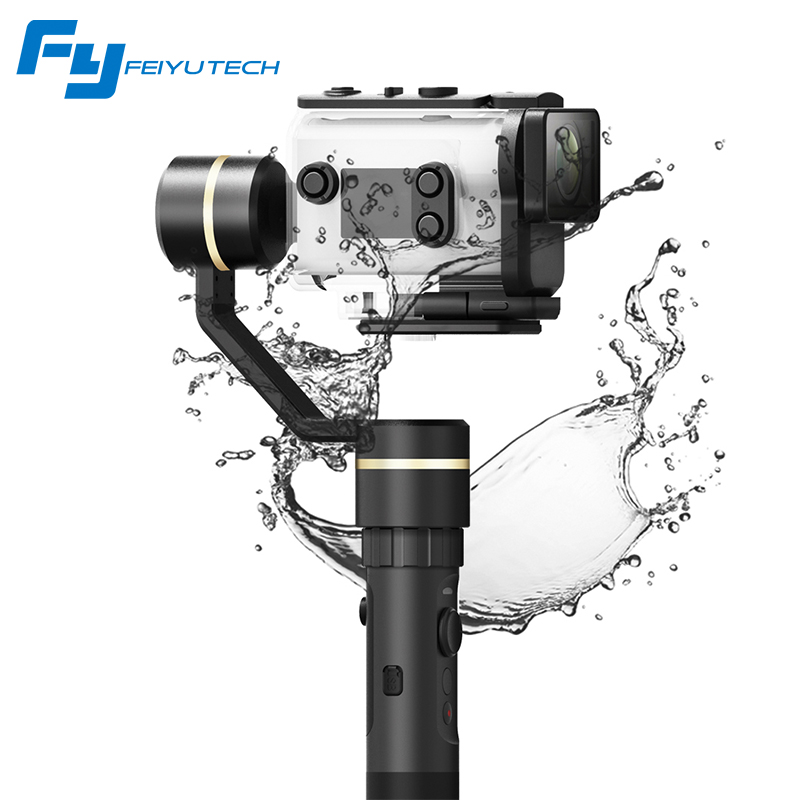 (With Two Batteries) Original FeiyuTech FY G5GS Handheld Gimbal for Sony AS50 AS50R Sony X3000 X3000R  for 130g-200g SONY Camera