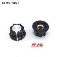 potentiometer knob 5pcs/lot MF-A02 A02 Potentiometer Knob Cap Inner 6mm 23x13mm Rotary Switch Bakelite Knob copper core inner for WHT118 WX050 (1)