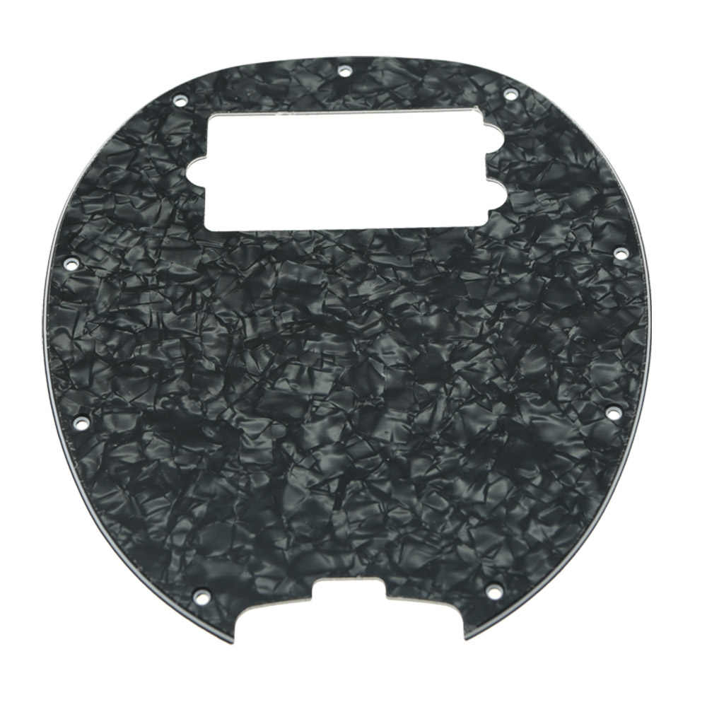 Dopro Bass Pickguard Stingray MM4 for MM2 4 String Guitar Parts Black Pearl