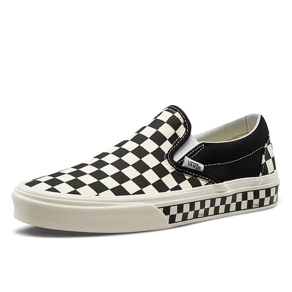 vans slip on checkerboard black and white
