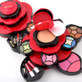 MISS ROSE Eye Shadow Plate Medium Plum Blossom Rotating Eye Shadow Box Cosmetic Case Makeup Palette Makeup Tools 7002-211Y