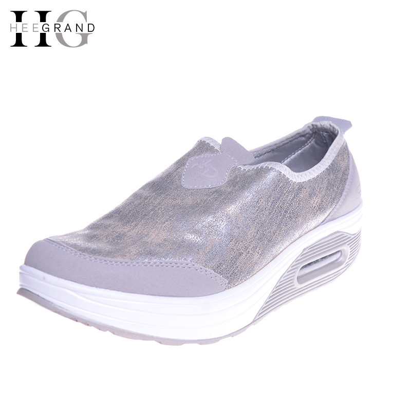 HEE GRAND 2017 Casual Creepers Slip On Loafers Spring Platform Shoes Woman Comfortable Women Shoes Flats Size 35-41 XWC1040 hee grand casual women s sandals 2017 silver creepers platform summer shoes woman flats pink casual women shoes xwz3886