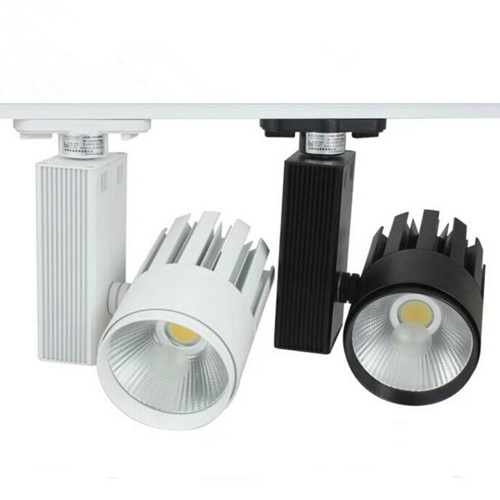 Hot!!! 40W Warm Cold White COB LED track light rail LED spot light Clothing store lights Industrial lighting Wall lamp AC85-265V
