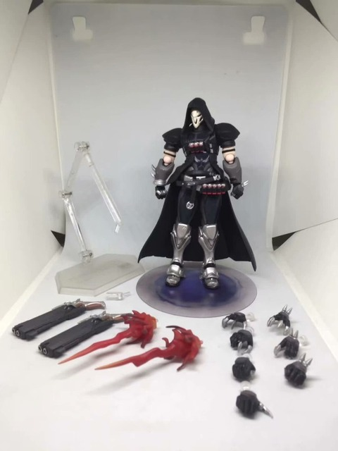 Ow Overwatches 393 Reaper Series PVC Action Figure Collectible Model Toys 17cm