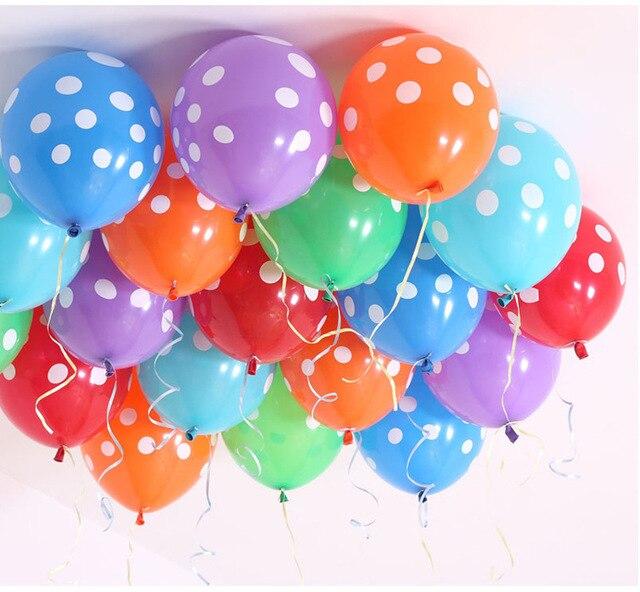 20pcs 12inch Latex Polka Dots Balloons Wedding Birthday Decoration Globos Party Ballon Palloncini Anniversaire Kid