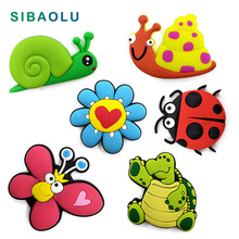Snail silicone fridge magnets Cartoon Butterfly animal whiteboard sticker Refrigerator Magnets Kids Message post Home Decoration 3pcs set mini crystal diamond shapes fridge magnets whiteboard sticker refrigerator magnets kids gift home decoration