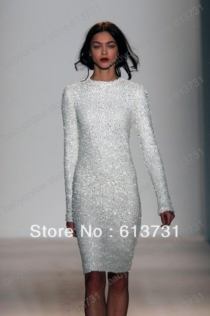 White Long Sleeve Cocktail Dresses