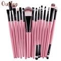 15 pcs pincéis de Maquiagem conjuntos Pro sobrancelha cabelo foundation brush pen cleaner Cosméticos maquiagem Blush cosméticos Drop Shipping