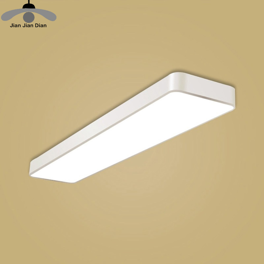 JJD Rectangle morden Dimmable led ceiling light Remote control Acrylic led ceiling lamp for home living