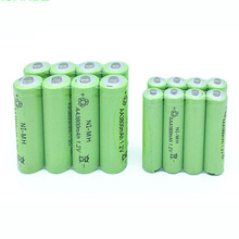 цена на 20pcs AA 3800mAh +20pcs AAA 1800mAh 1.2v Ni-MH Rechargeable Battery yellow cell Free shipping led torch Toys RC