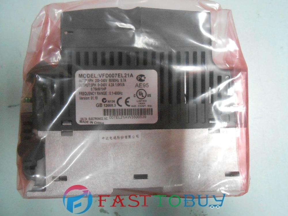 Delta Inverter VFD drive VFD007EL21A 1Phase 220V 0.75kW 1HP 0.1~600Hz Water pump &Packaging machine