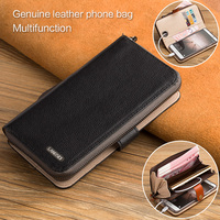 wangcangli handmade custom cell phone bag calf leather wallet cell phone pocket For iphone X case
