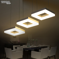 Modern led pendant lights for dining room living room Acrylic Aluminum Rectangle led pendant lamp fixtures AC85 265V