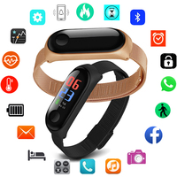 Stainless Steel Smart Watch Men Women For Android IOS Smartwatch New Sport Clock Smart Band Fitness Tracker Smartband Waterproof