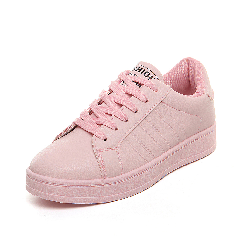 tenis feminino 2019 tennis Shoes for Women leather Pink White black Sport Sneakers Woman Platform Breathable Sports Walking Shoe image