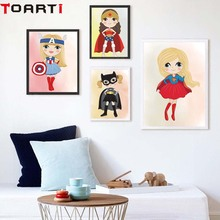 Children Super Hero Nursery Wall Art Canvas Poster And Prints Cartoon  Superheroes Painting Picture Modern Room Decor