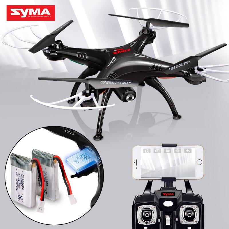 SYMA официальный X5SW Дроны с Камера HD WiFi FPV реального времени передачи вертолет Квадрокоптер Радиоуправляемый Дрон с дополнительной Батарея