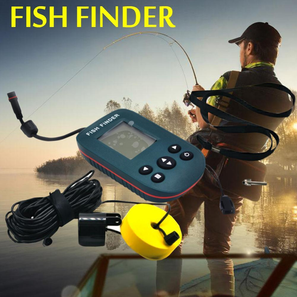 X8 Portable Dot Matrix Fish Finder Wired Sonar Sensor Fishing Sounder Alarm Depth 0.6-100M For Lake Sea Fishing Tackle