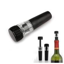 1 шт вакуумная пробка для закупоривания бутылок красного вина шампанского бутылка консервант воздушный вакуумный насос герметичная Заставка подходит для стандартных шеек