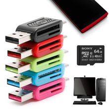 2-IN-1 Micro USB 2.0 OTG TF SD SDXC Memory Card Reader For PC Android Smartphone