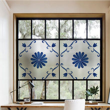 Декоративные пленки для окон статическая липкая синяя стеклянная