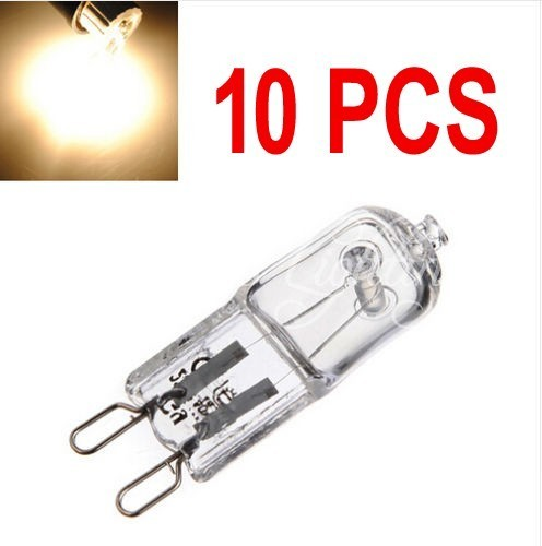10pcs/lot G9 Halogen Warm White Tungsten ECO Light Bulbs Clear Frosted 220V 240V 20W 25W 40W Watts Dimmable for pendant light