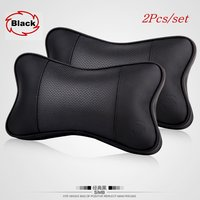 Lyudmila Car headrest For Porsche FOR BMW 3D neck guard with leather cushion pillow bones outfit with a pair automotive supplies