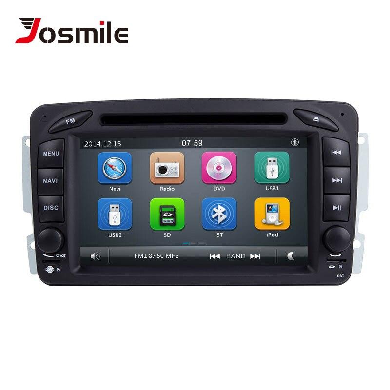 Lecteur DVD de voiture Josmile 2 Din pour W203 Mercedes Benz Vito W639 W168 Vaneo Clk W209 W210 M/ML Navigation Audio Radio multimédia