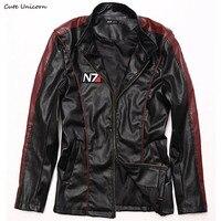 Game Mass Effect 3 N7 Mens PU Leather Jacket Winter Streetwear Coat Men S Clothing Jaquetas