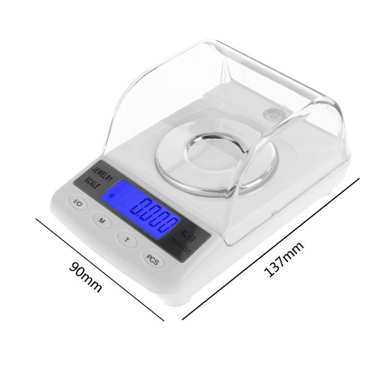 Digital Milligram Scale 50g/0.001g Balance High Precision 0.001 Electronic Laboratory Weight Jewelry Laboratory Weighing Balance