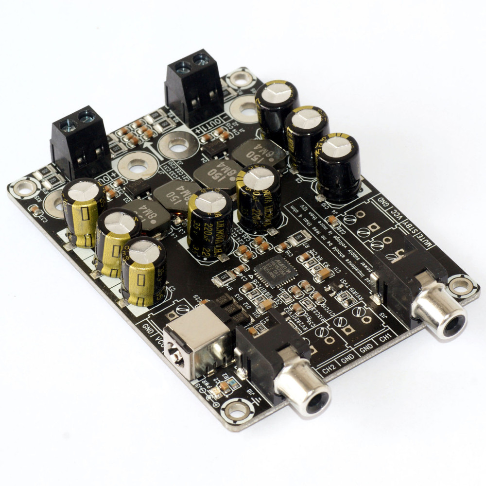 Max9736a Class D Digital Audio Amplifier Board Hifi Binaural 2x15w Power Electronic Circuits And Diagram 1
