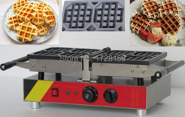180 Degree Turntable easy clean design  commecial electric Liege Belgian Waffle maker machine 110v 220v electric belgian liege waffle baker maker machine iron