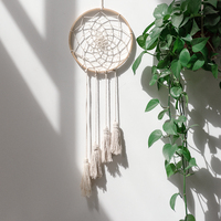 Dream catcher Macrame Wall Art Handmade Cotton Wall Hanging Tapestry with Lace Fabrics tapestry Boho Decor