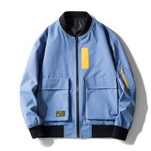 Autumn And Winter Men's Jackets Patchwork Fashion Color Male Jackets Coats Multi-Pocket Men's Jackets